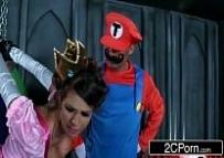 Princesa faz sexo com o Super Mário e o Luigi