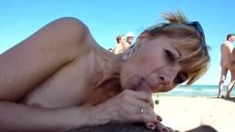 Sexo na praia em público